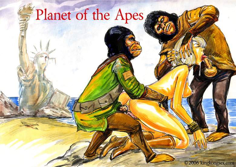 nude apes of the planet Vash the stampede and knives