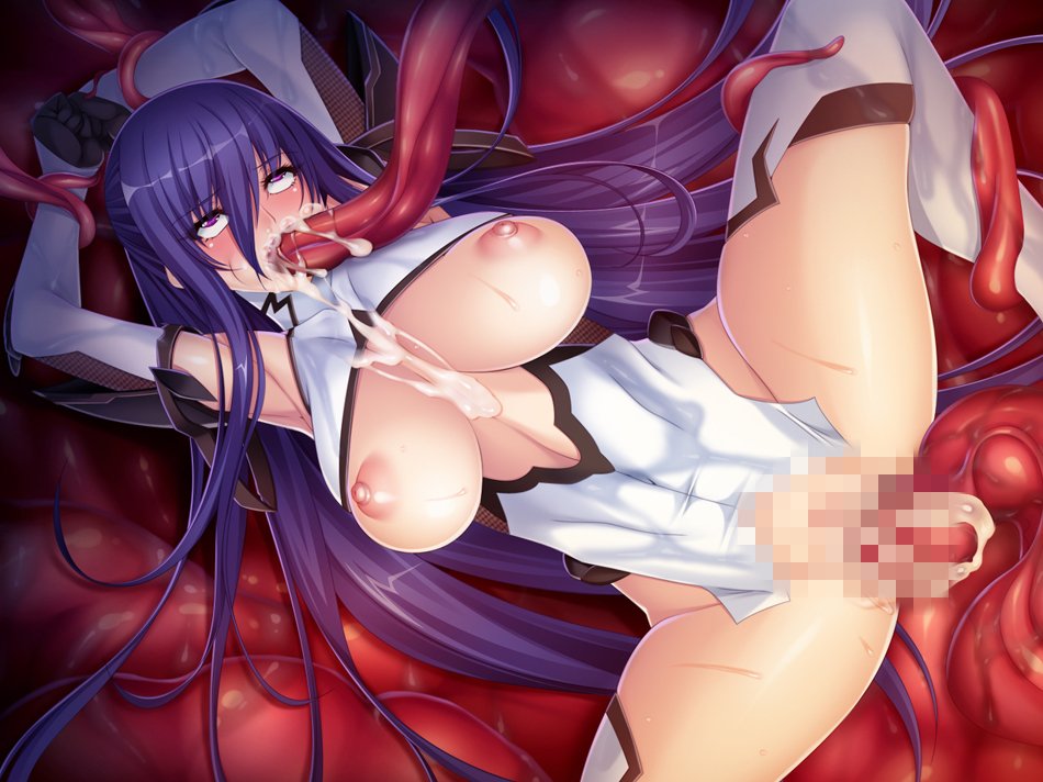 way tentacle through gif all the Anime girls pooping their panties