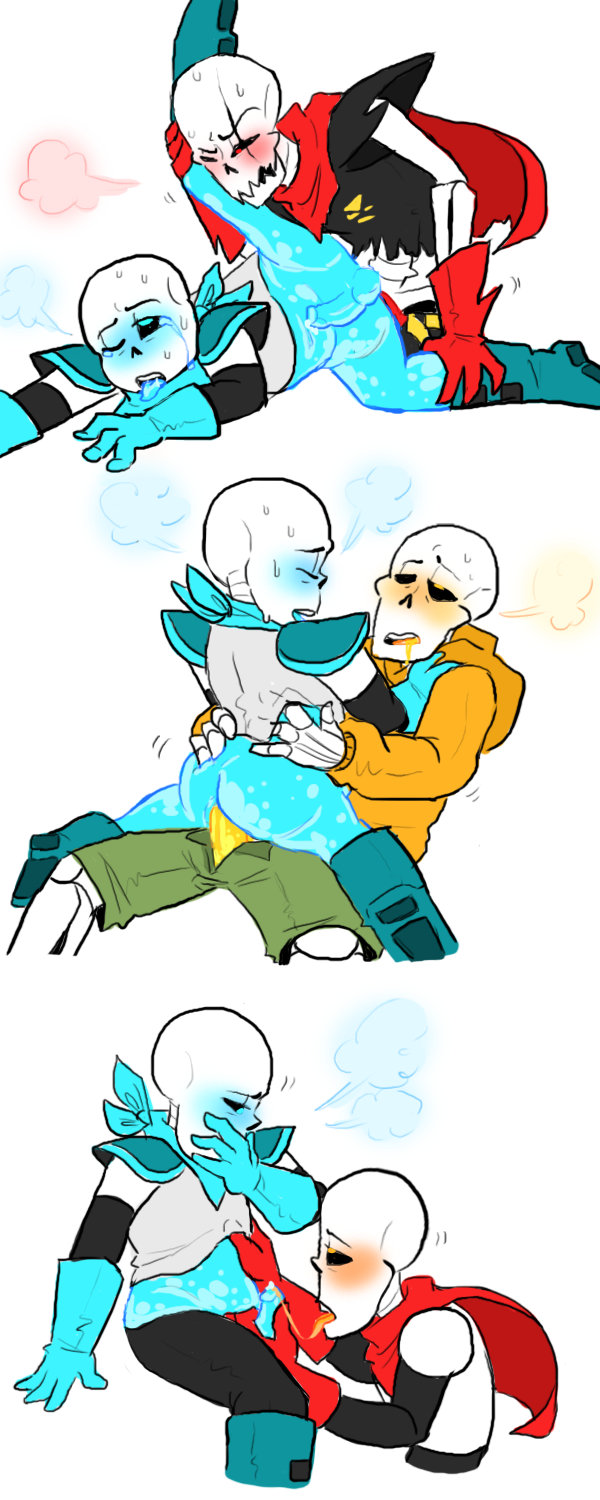 undertale sans frisk papyrus and Panty and stocking with gaterbelt