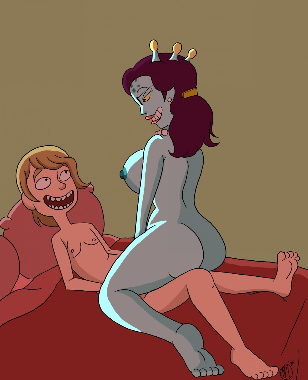 rick and morty stripper dino Velma and hot dog water