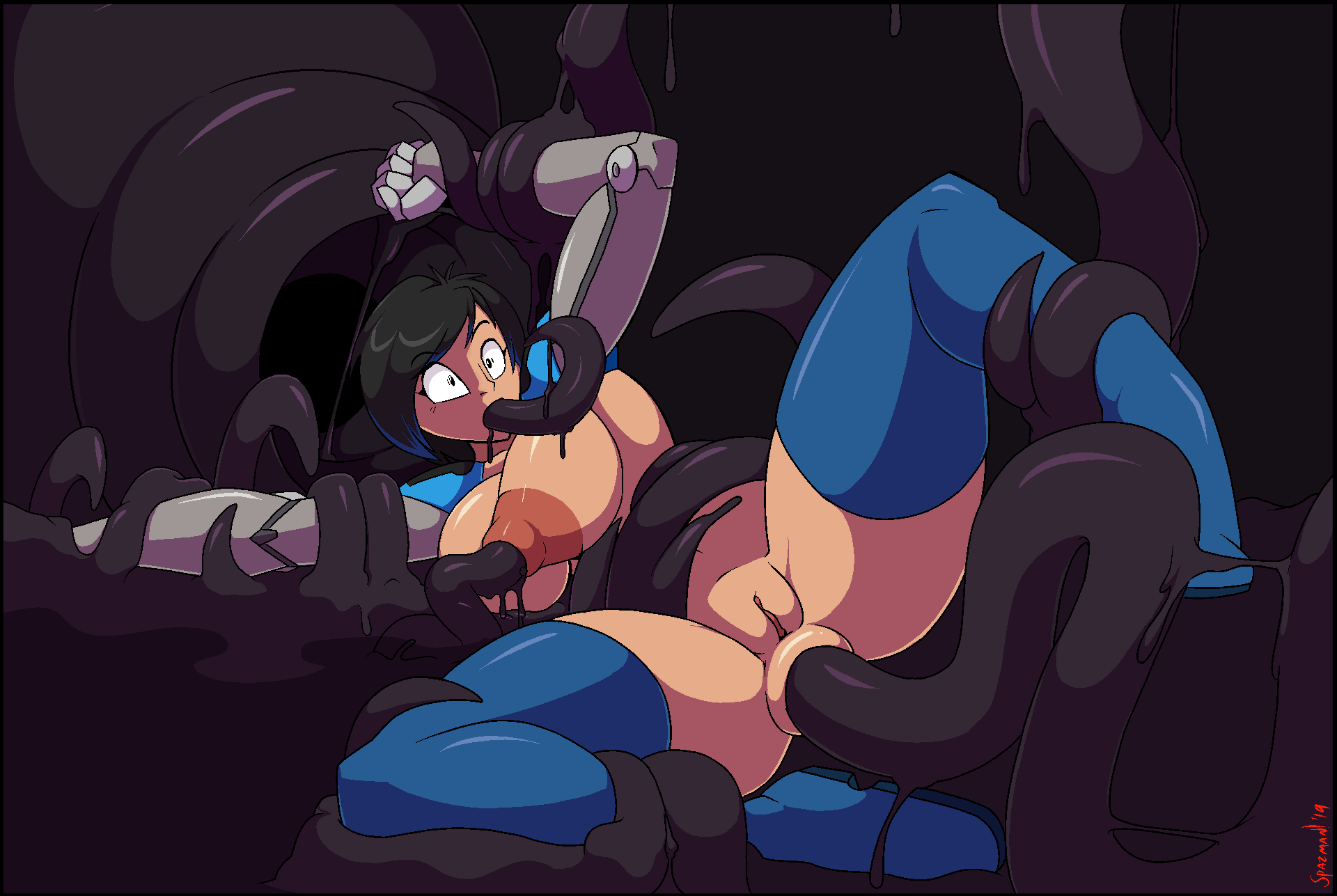 porn all tentacle the through way Rivals of aether polar bear