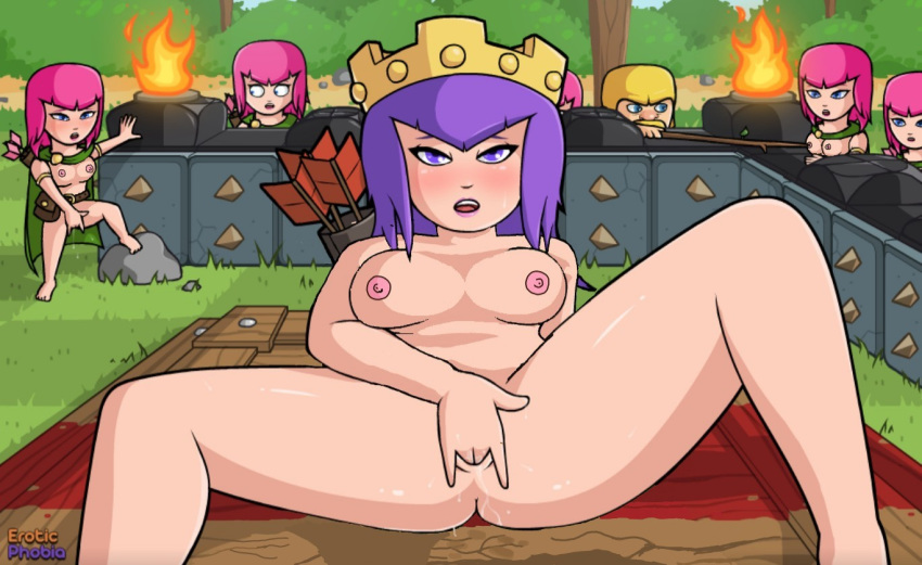 of clash night witch clans Tentacle hentai all the way through